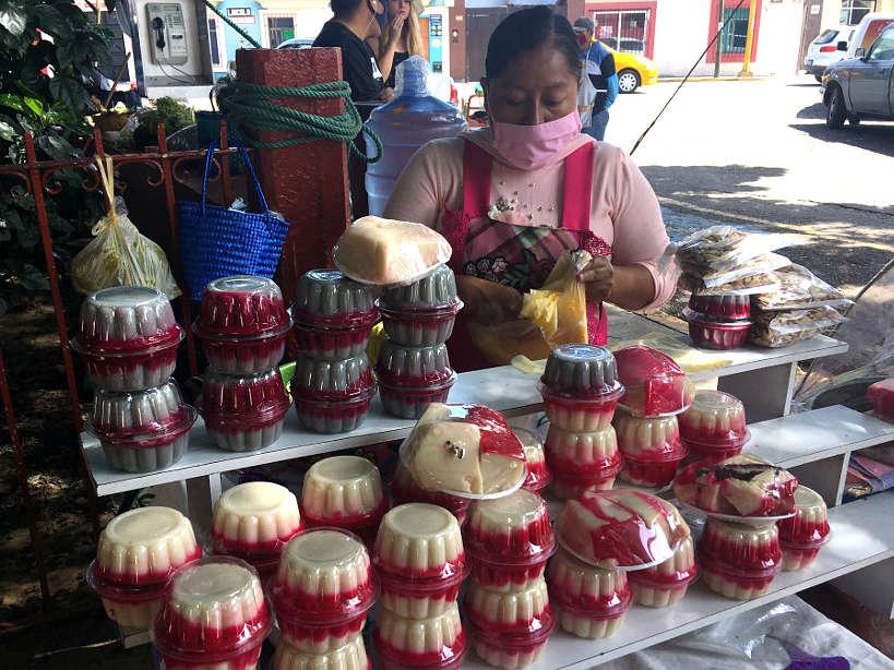 Nicuatole vendor at La Merced Market in Oaxaca by Authentic Food Quest