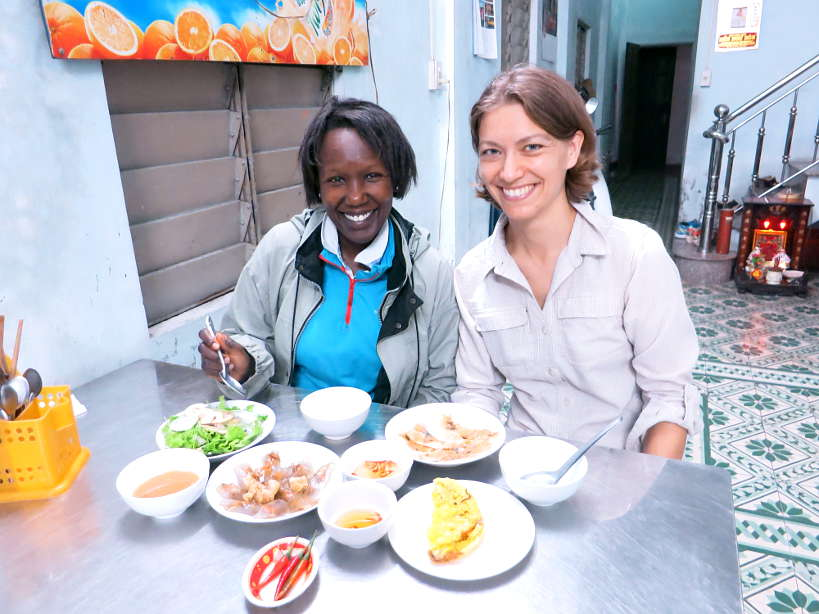 Rosemary and Claire eating Hue Food by Authentic Food Quest
