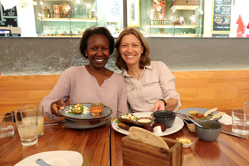 Rosemary and Claire at Zandunga Oaxaca Restaurant by Authentic Food Quest