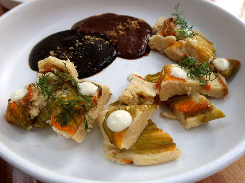 Tamales and Mole at Levadura de Olla Oaxaca foods by Authentic Food Quest