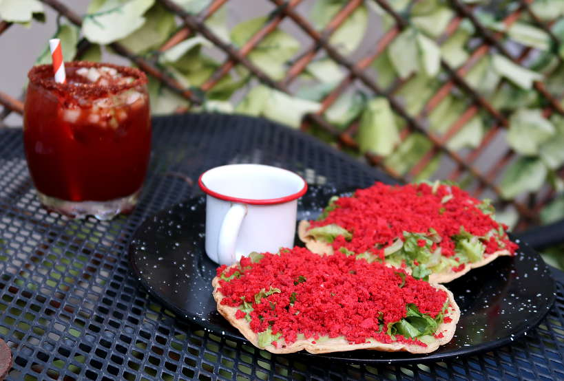 Tostadas with Salchicha Oaxaquena for Oaxaca Foods by Authentic Food Quest