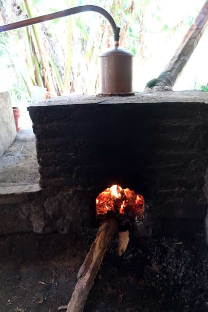 The distillation process on Mezcal Tour Oaxaca by Authentic Food Quest