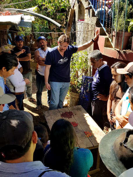 Enrique Lopez at Finca Chelin Inovacafe in Oaxaca Mexico by Authentic Food Quest
