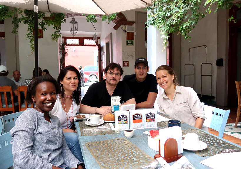 Enrique Lopez and Family with Rosemary and Claire in Oaxaca Mexico by Authentic Food Quest