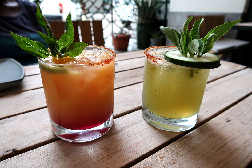 Mezcal cocktails at Expendio Tradicion in Oaxaca by Authentic Food Quest