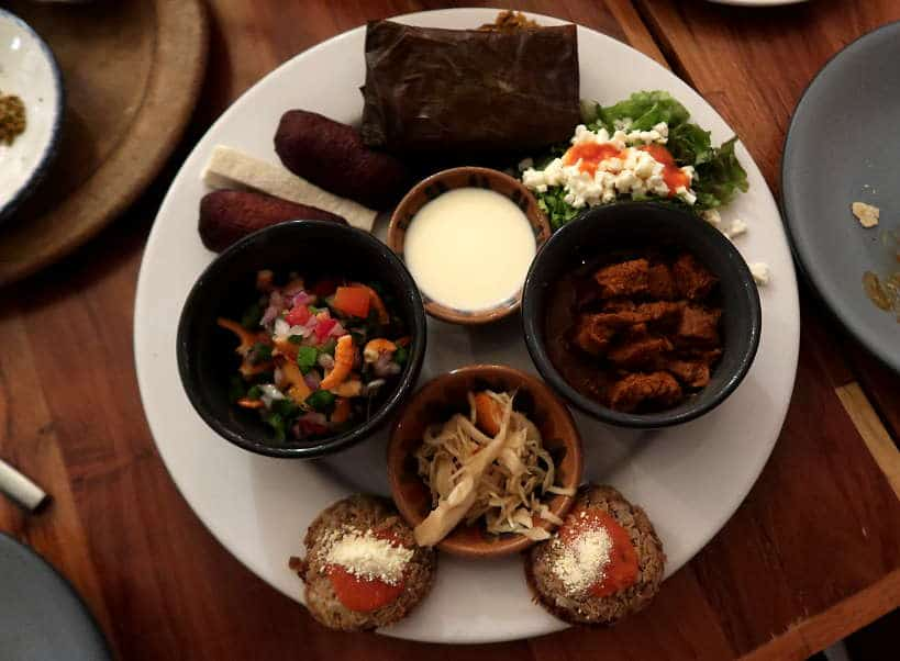 Plate of Ismena cuisine at Zandunga Restaurant by Authentic Food Quest