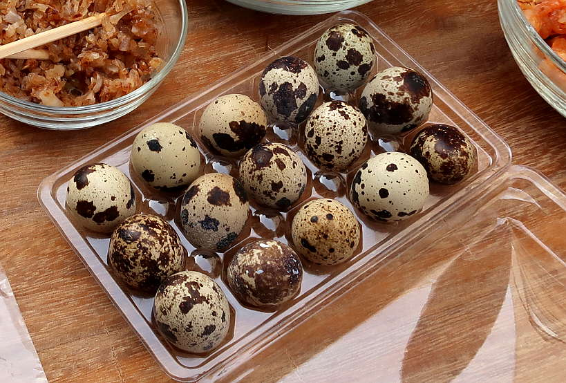Quail Eggs for Vietnamese Pizza by AuthenticFoodQuest