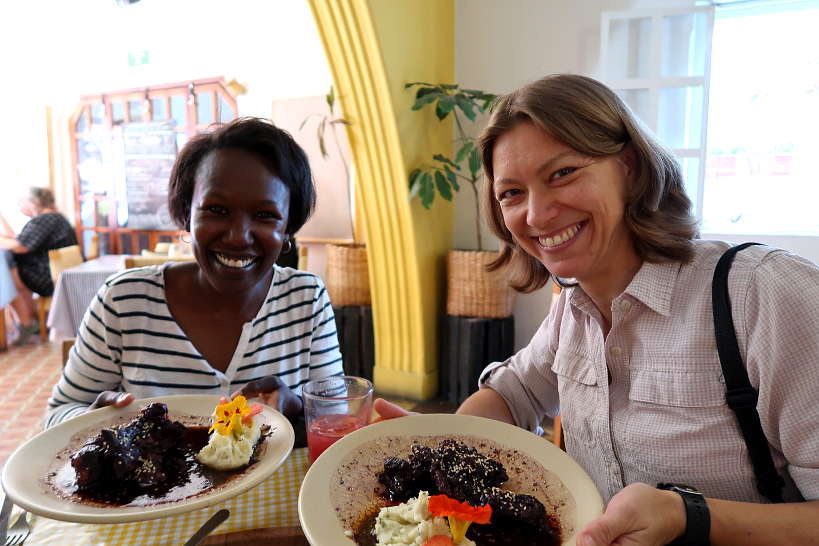 Rosemary and Claire at Cabuche Restaurant by Authentic Food Quest