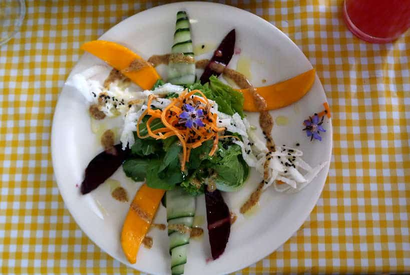 Salad at Cabuche in Oaxaca by Authentic Food Quest