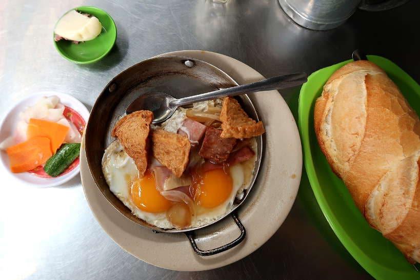 Banh Mi Op La food in Saigon by Authentic Food Quest