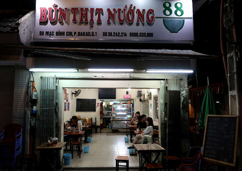 Bun Thit Nuong 88 Restaurant in Saigon by Authentic Food quest