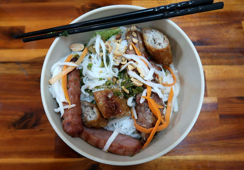 Bun thit nuong food in Saigon by Authentic Food Quest