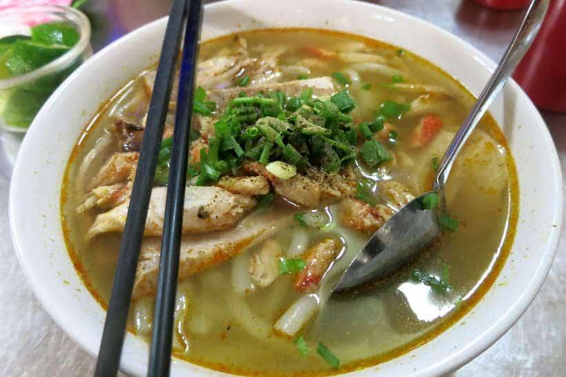 Crab noodle soup food in Saigon by Authentic Food Quest