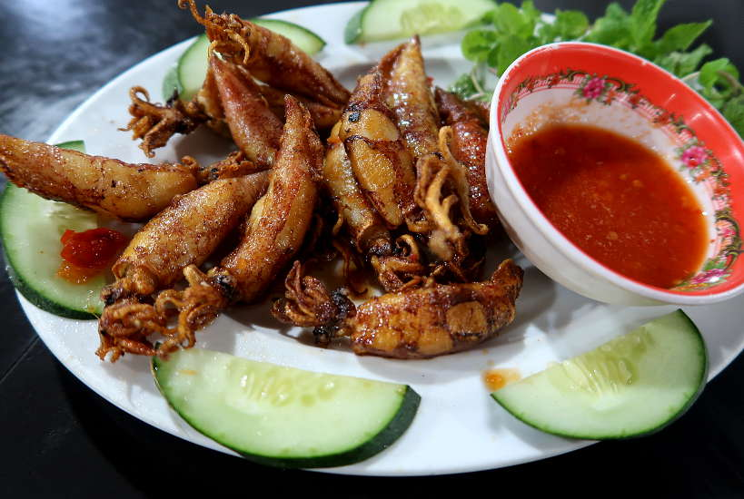 Grilled squid Seafood in Hoi An by Authentic Food Quest
