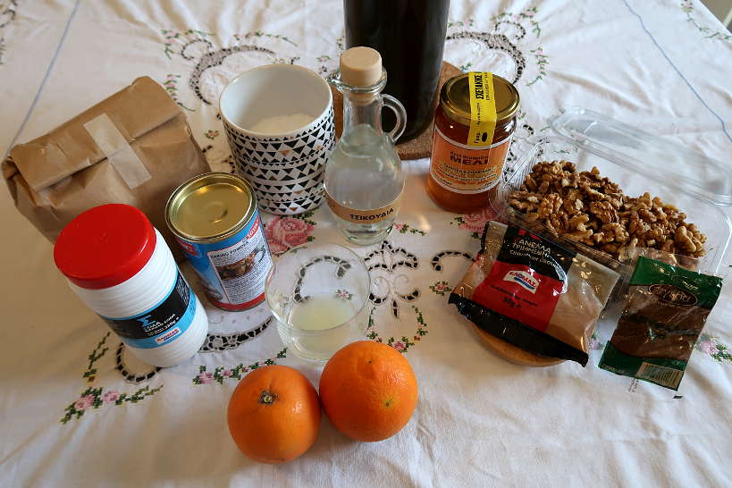 Ingredients for Melomakarona Recipe by Authentic Food Quest