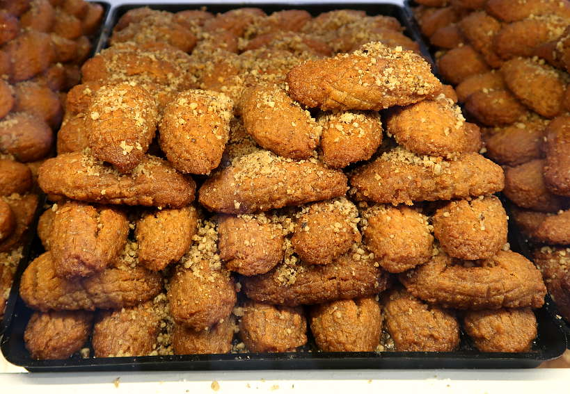 Melomakarona Cookies at the Bakery in Chania Crete by Authentic Food Quest