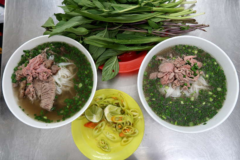 Pho Vietnamese noodle soup for food in Saigon by Authentic Food Quest