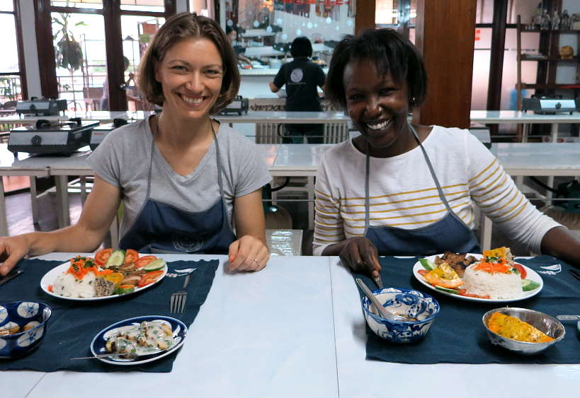 Claire and Rosemary in Saigon Vietnam by Authentic Food Quest