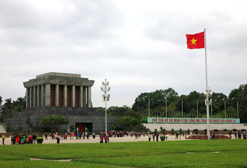 Ho Chi Minh Mausoleum in Hanoi by Authentic Food Quest
