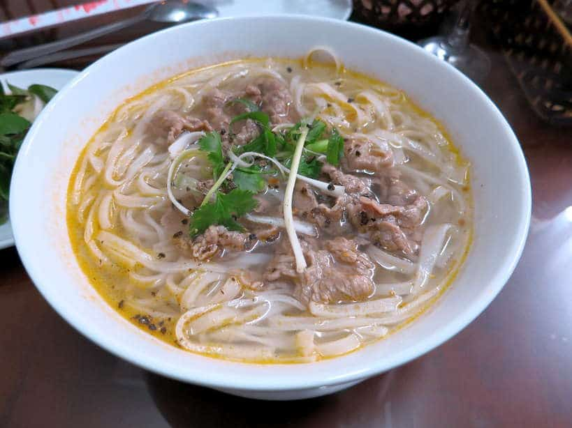 Pho at Breakfast at Green Coco homestay in Hoi An by AuthenticFoodQuest