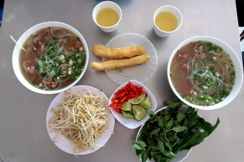 Pho meat at hong pho restaurant Danang Vietnam by authentic food quest