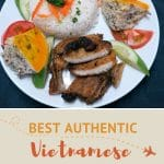Vietnamese Broken Rice Recipe with grilled pork chop by AuthenticFoodQuest
