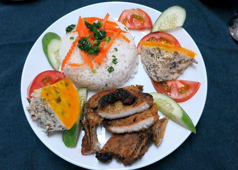 Vetnamese Broken rice pork chop recipe or com tam by Authentic Food Quest