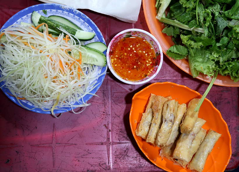 Vietnamese dipping sauce for spring rolls by Authentic Food Quest