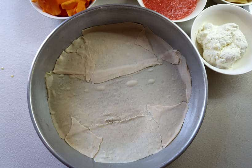 Baking dish with phyllo dough layer by Authentic Food Quest