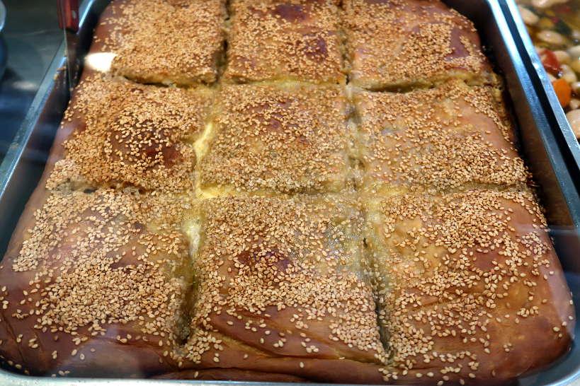 Boureki at retaurant in chania, Crete by Authentic Food Quest
