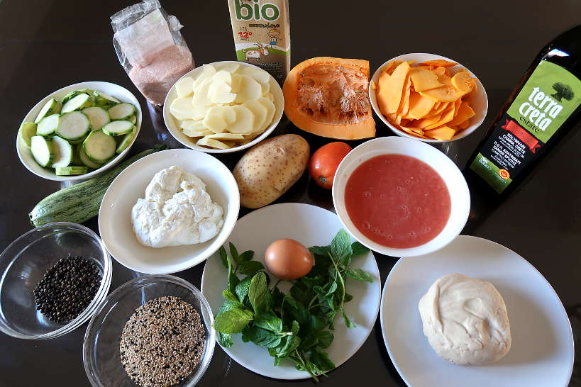 Ingredients for boureki recipe by Authentic Food Quest