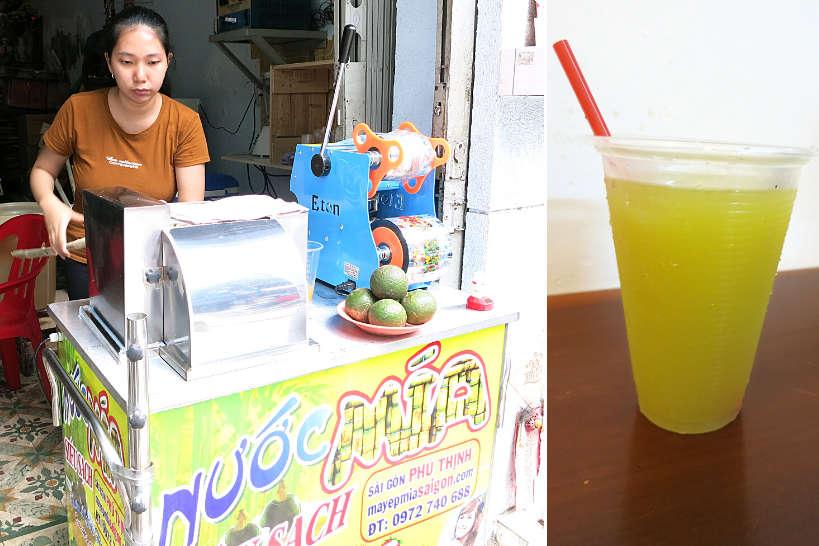 Nuoc Mia Sugar Cane Juice in Saigon Vietnam by Authentic Food Quest