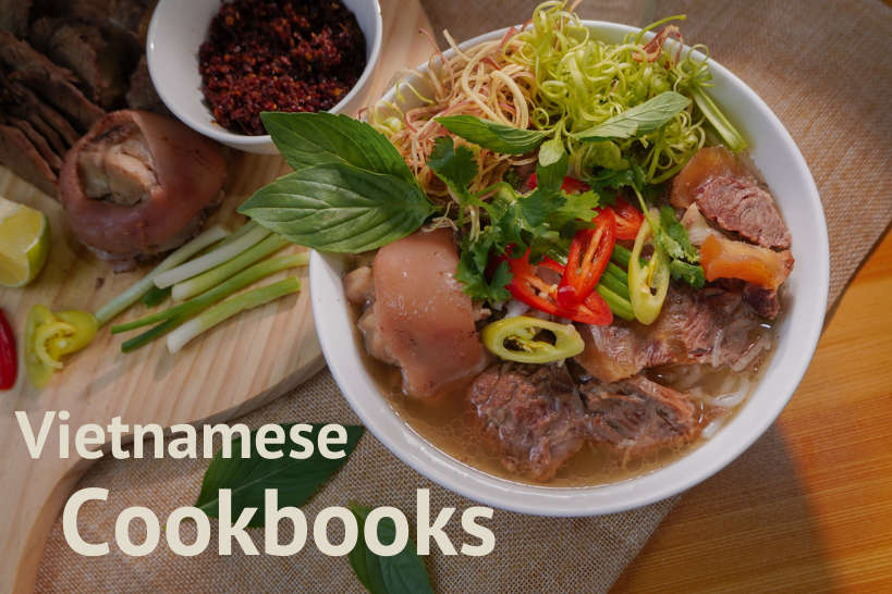Pho Soup for front cover of the Vietnamese Cookbooks Review byAuthenticFoodQuest