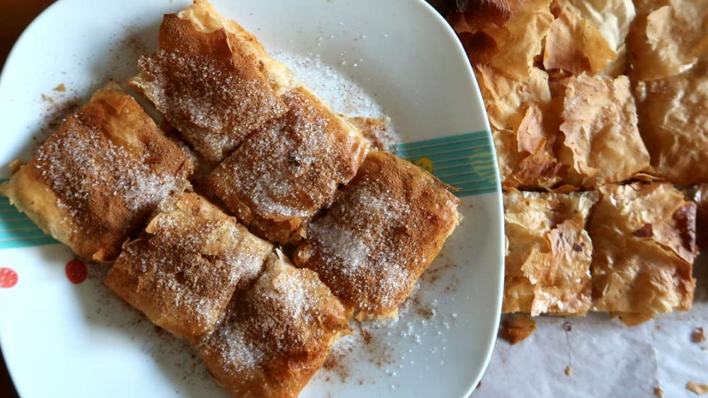 Bougatsa Pastry from Chania Crete by AuthenticFoodQuest