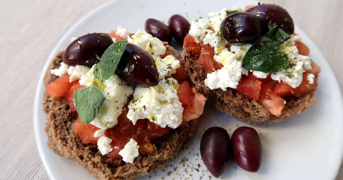 1200 Cretan Dakos Recipe by Authentic Food Quest