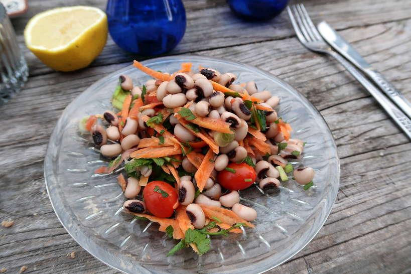Black eye Peas Salad olive oil tasting food pairing by Authentic Food Quest