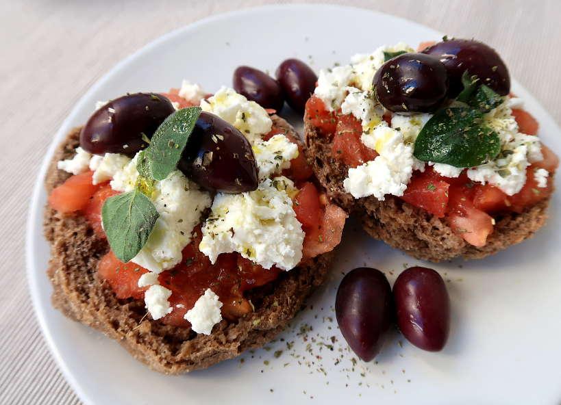 Cretan Dakos Salad by Authentic Food Quest