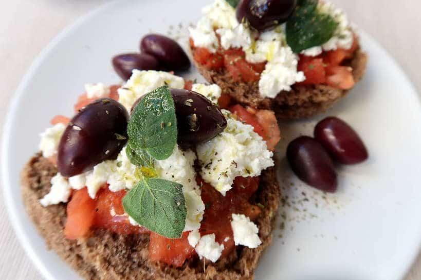Cretan Dakos with fresh oregano by Authentic Food Quest