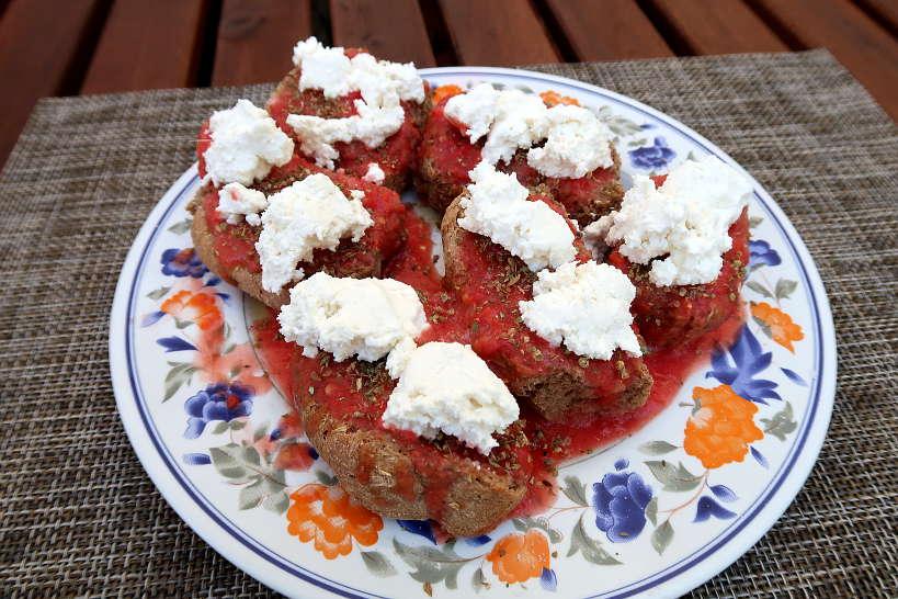 discovering Cretan dakos in Chania Crete by Authentic Food Quest