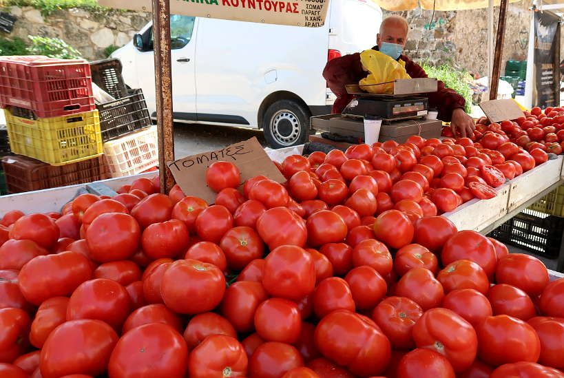 Tomatoes in Chania Crete by Authentic Food Quest