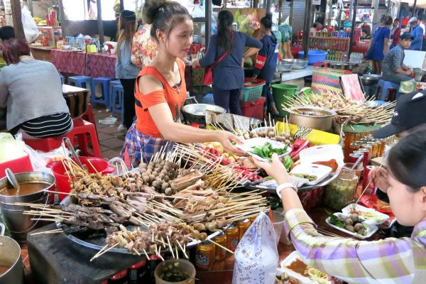 Cambodian Street Food stand in Phnom Penh by Authentic Food Quest