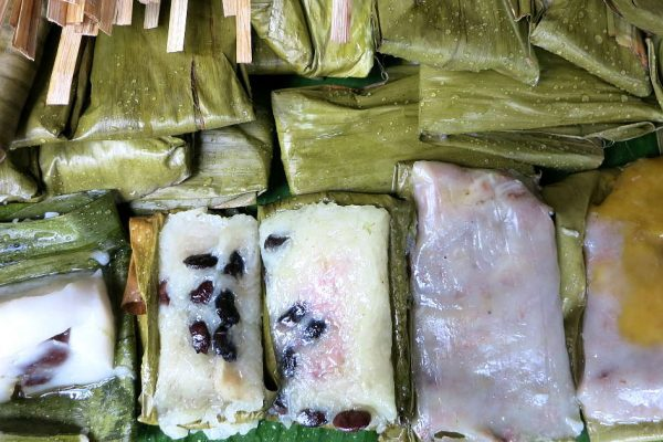 Thai Desserts cooked in banana leaves by AuthenticFoodQuest