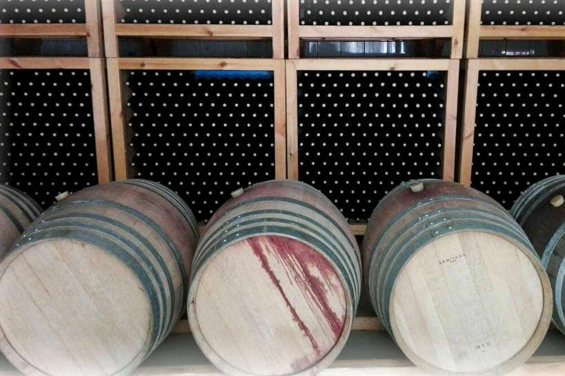 Anoskeli Winery Barrels in Crete by AuthenticFoodQuest