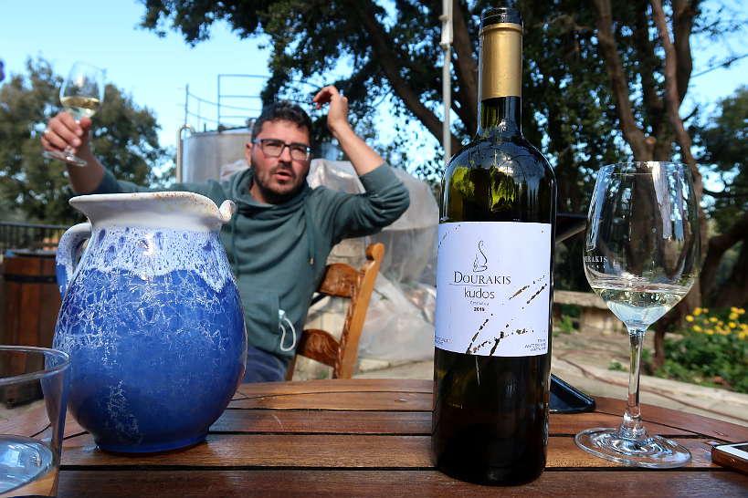 Antonis Dourakis with Dourakis wines Crete by Authentic Food Quest