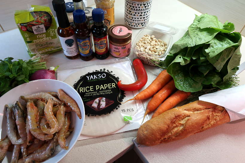 Ingredients for Vietnamese cooking classes with the Chef and the Dish by Authentic Food Quest