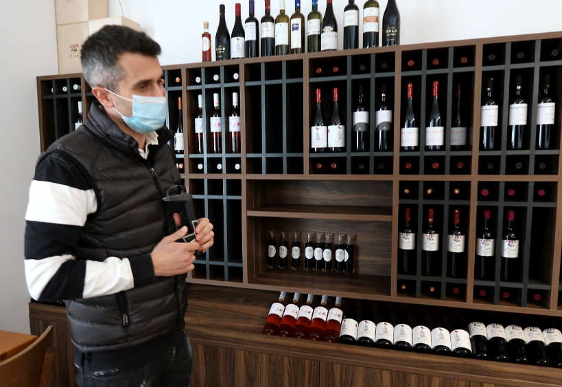 Nikos winer at Karavitakis winery by Authentic Food Quest