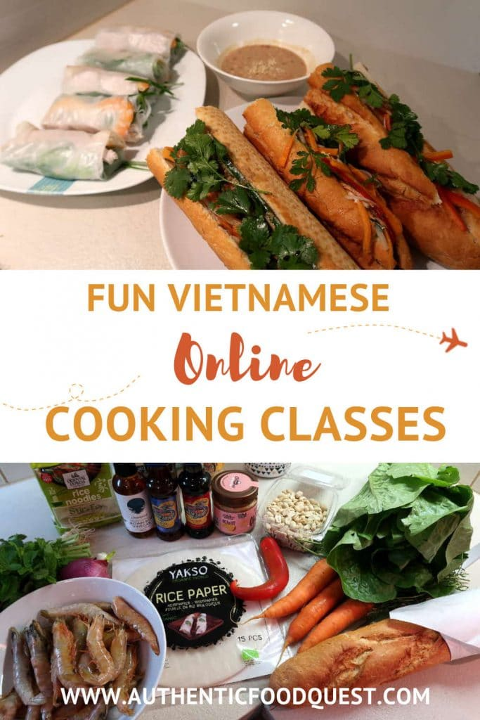 Pinterest Vietnamese online cooking class by Authentic Food Quest