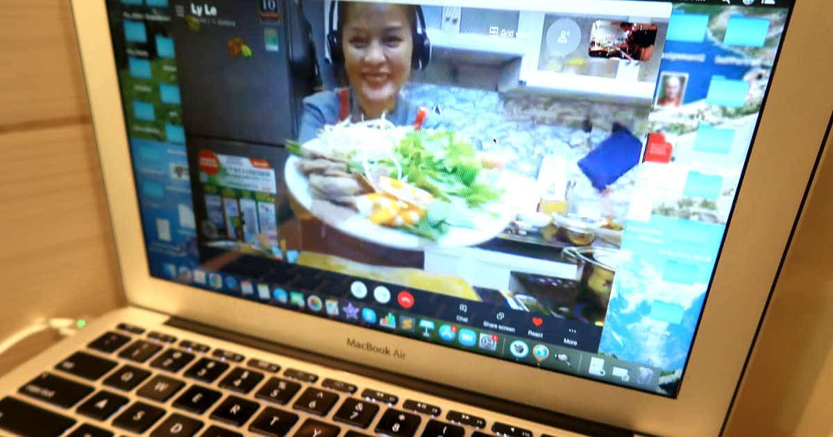 Preparation Plate for Making Spring rolls during on Online Vietnamese Cooking Class with The Chef and The Dish by AuthenticFoodQuest