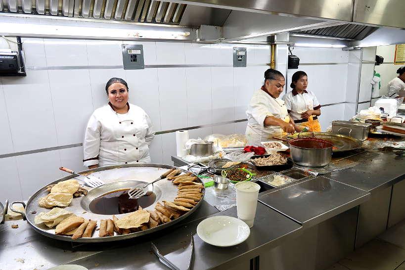 Kitchen at Cenaduria Dona Guille a Guadalajara Restaurant by AuthenticFoodQuest