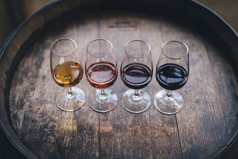 Different shades of Porto wines Lisbon Porto tasting tour by Authentic Food Quest